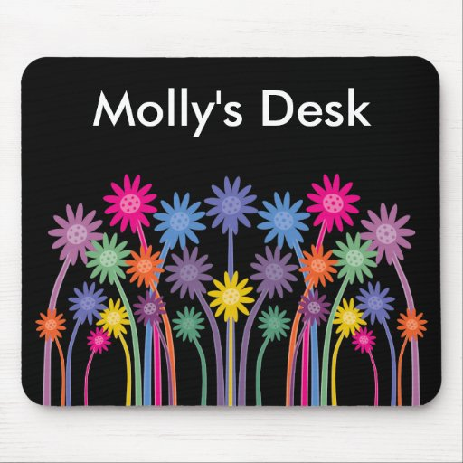 Stylish & Bold Symmetrical Flowers Mousepad