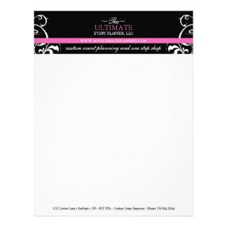 Stylish + Bold Wedding Planner Letterhead