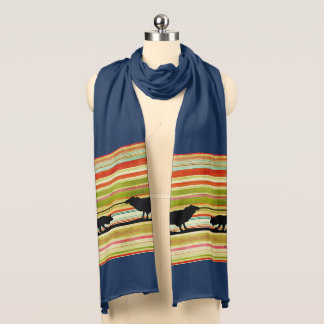 Stylish Border Collie 100%  jersey cotton scarf. Scarf