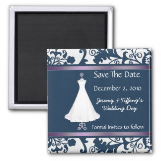 Stylish Bridal Gown Save the Date Magnet