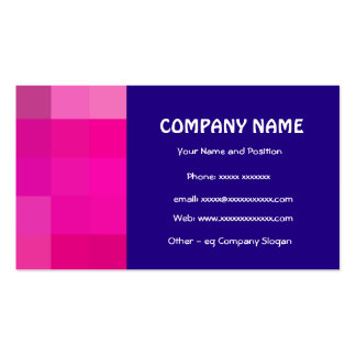 Stylish Bright Pink and Dark Blue Business Card