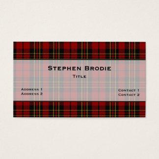 Stylish Brodie Tartan Plaid Custom Business Card