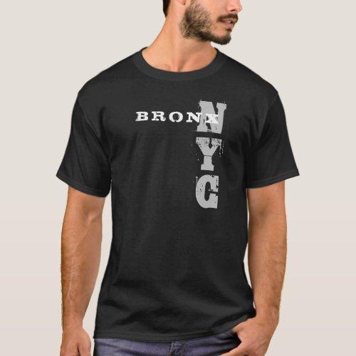 Stylish Bronx Nyc Text Black Creative Design T_Shirt