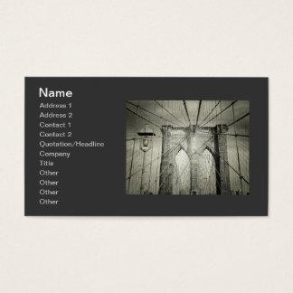 Stylish Brooklyn Bridge Business Card