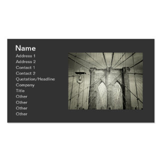 Stylish Brooklyn Bridge Double-Sided Standard Business Cards (Pack Of 100)