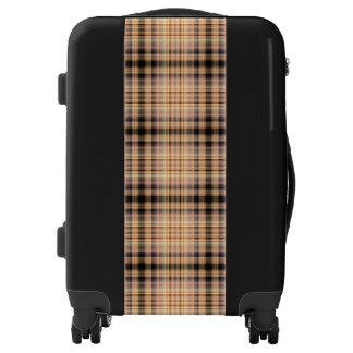 Stylish brown checkered Pattern Luggage