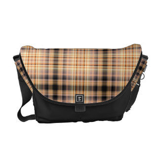 Stylish brown checkered Pattern Messenger Bag