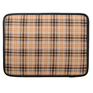 Stylish brown checkered Pattern Sleeve For MacBooks