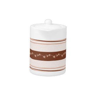 Stylish Brown Decorative Teapot