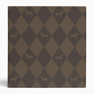 Stylish Brown Harleqiun Horse Pattern Binders