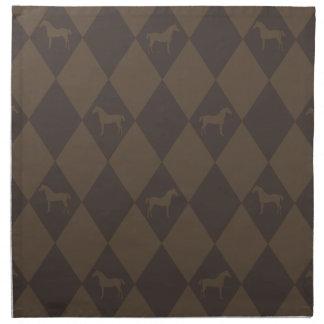 Stylish Brown Harleqiun Horse Pattern Napkin