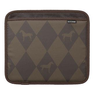Stylish Brown Harleqiun Horse Pattern Sleeve For iPads