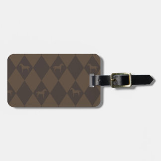 Stylish Brown Harleqiun Horse Pattern Tag For Bags