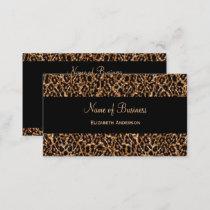 Stylish Brown Leopard Print Luxury Animal Pattern Business Card