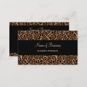 Leopard business cards 1800 leopard business card templates stylish brown leopard print luxury animal pattern business card colourmoves