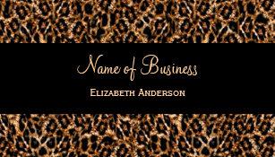 Animal print business cards templates zazzle stylish brown leopard print luxury animal pattern business card colourmoves