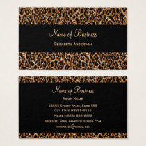 Stylish Brown Leopard Print Luxury Animal Pattern Business Card