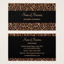 Animal print business cards templates zazzle stylish brown leopard print luxury animal pattern business card reheart Gallery