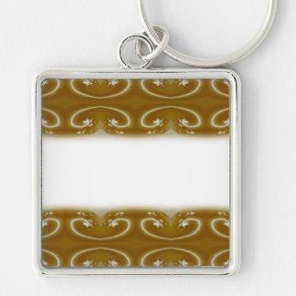 Stylish Brown Swirl Pattern. Keychain