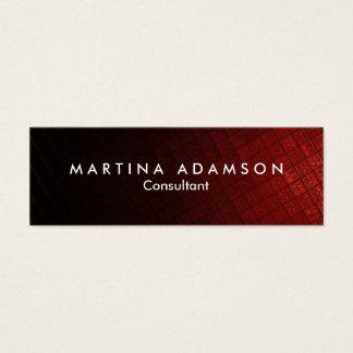Stylish Brownish Red Design Artistic Slim Mini Business Card
