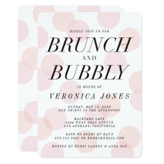 Stylish Brunch and Bubbly Bridal Shower Invitation