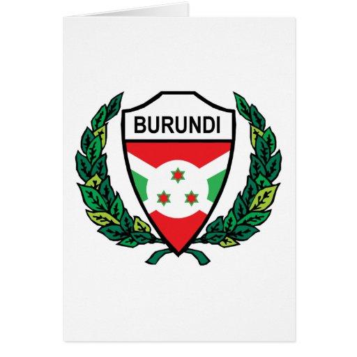 Stylish Burundi Greeting Card