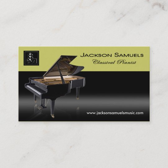 Stylish Business Card All Purpose Pianist I