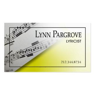 """Stylish Business Card - all purpose """"Sheet Music"""""""