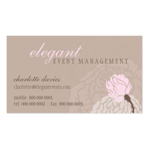 STYLISH BUSINESS CARD elegant rose