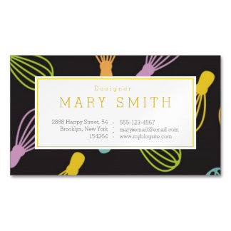 Stylish Business Card Magnet Customizable