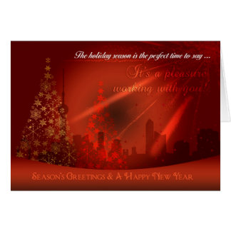 Stylish Business Christmas Card, China Silhouette Greeting Card
