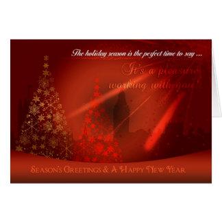 Stylish Business Christmas Card, London Silhouette Card