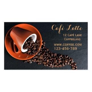 Stylish cafe modern trend coffee shop business card