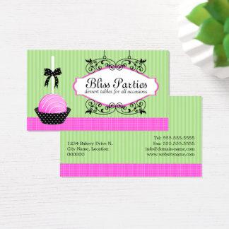 Stylish Cake Pops Desserts Business Card