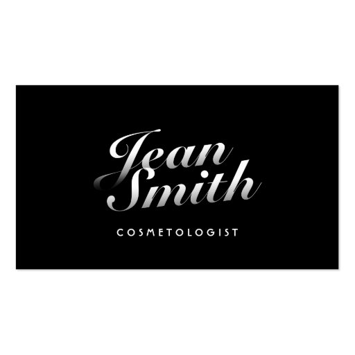 Stylish Calligraphic Cosmetologist Business Card