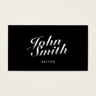 Stylish Calligraphic Pastor Business Card