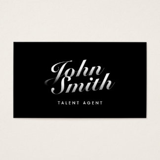 Stylish Calligraphic Talent Agent Business Card