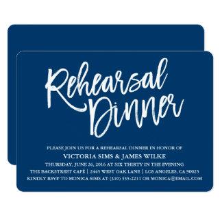 Stylish Calligraphy Rehearsal Dinner Invitation