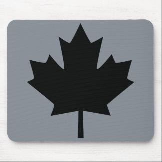 Stylish Canadian Black Maple Leaf Mouse Pad