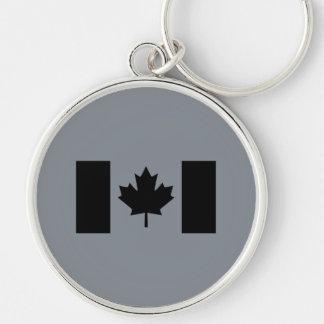 Stylish Canadian Flag in Black Keychain