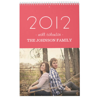 Stylish Candy Pink Design 2012 Wall Calendar