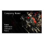 Stylish Car engine fragment in black Business Card