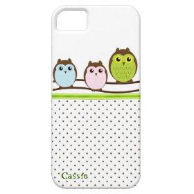 Stylish Cartoon Owls Custom iPhone 5 Case