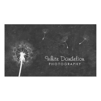 Stylish Chalkboard Dandelion Photography Double-Sided Standard Business Cards (Pack Of 100)