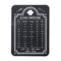 Stylish Chalkboard Kitchen Conversion Chart Magnet