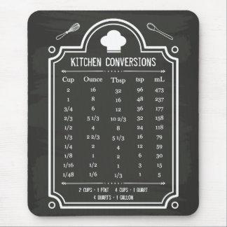 Stylish Chalkboard Kitchen Conversion Chart Mouse Pad