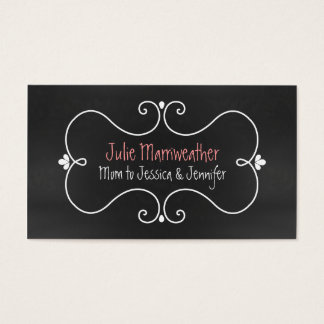 Stylish Chalkboard Look Custom Mommy Card