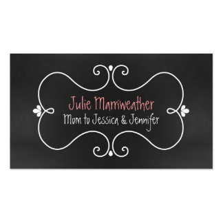 Stylish Chalkboard Look Custom Mommy Card Double-Sided Standard Business Cards (Pack Of 100)