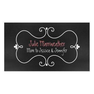 Stylish Chalkboard Look Custom Mommy Card Business Card