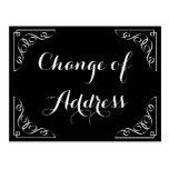 Stylish Change of address calligraphy postcard